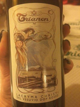 Pizzeria Trianon da Ciro: вино
