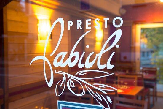 Fabioli Presto: Presto Fabioli, la vente à emporter de Fabioli