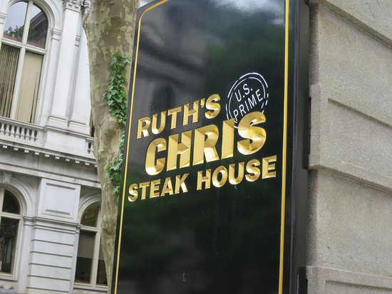 Ruth's Chris Steak House: You can't miss this sign