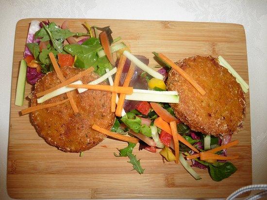 Simonsbath, UK: Fishcakes