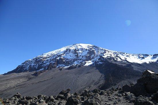 Intrepid Explorer Tanzania: Mount Kilimanjaro clear day on mountain