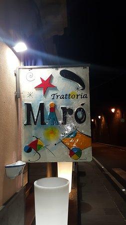 Trattoria Miró: Insegna