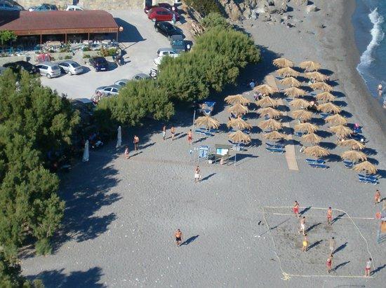 Agia Fotia: the beach