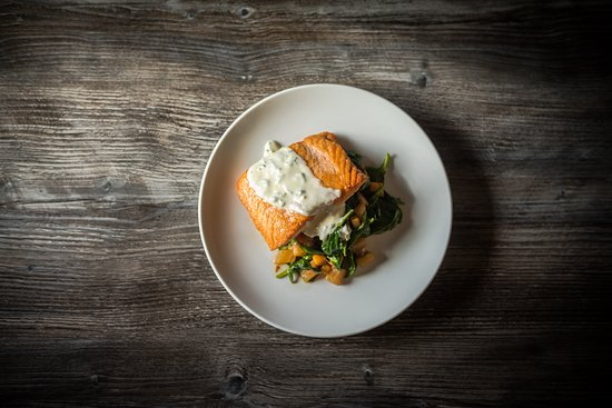 Breakwater Restaurant and Bar: The Salmon Entree from our lunch menu