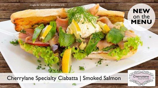 Cherrylane Gourmet Cafe: Smoked Salmon Ciabatta