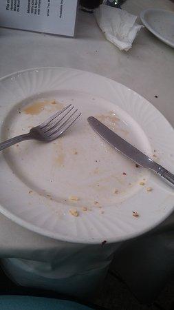 Cuppa Cabana Cafe: Empty plate yummy breakfast usa lol