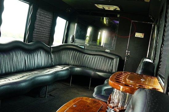 Fly Limousine Services: Party Bus 24 Passenger interior