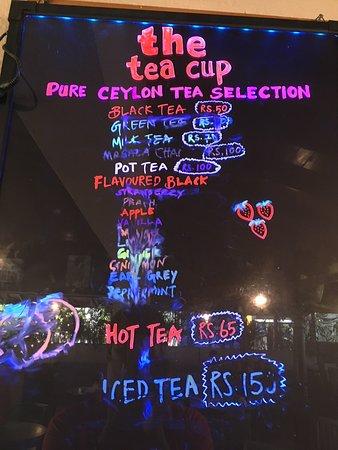 Zesta Tea Cup: Price list...