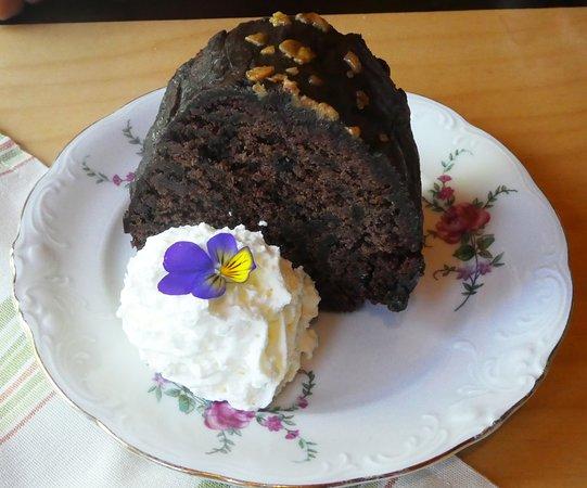 Tyne Valley, كندا: Chocolate cake
