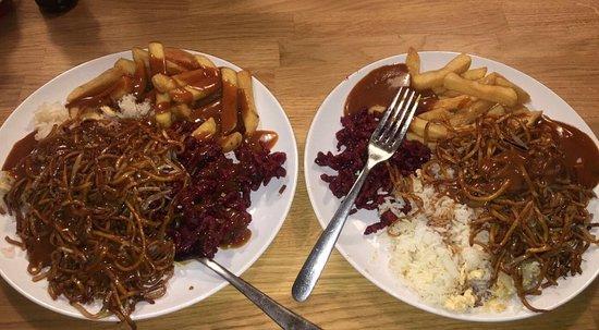 Bampton, UK: Chow mien