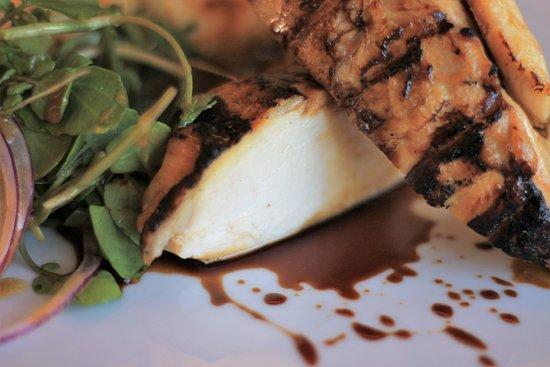 Purple Restaurant: Peito de Frango com Polenta de chouriço | Chicken Breast with Chorizo Polenta