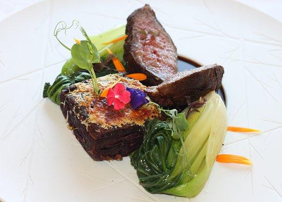 Purple Restaurant: Presa de Porco com Batata Doce Gratinada | Pork Beef with Sweet Potato Gratin