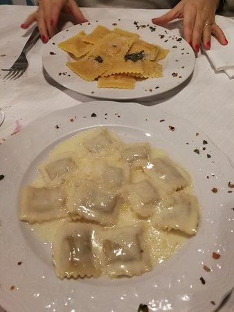 Antica Locanda Bissone: marubini alla crema e ravioli di zucca
