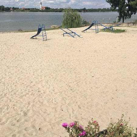 Vojvodina, صربيا: Right on a sandy beach on the Danube in western Serbia