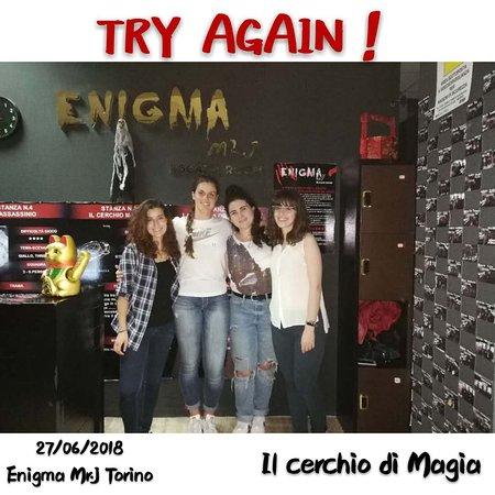 """Enigma Mr. J Escape Room: TRY AGAIN! della stanza """"IL CERCHIO DI MAGIA""""!"""
