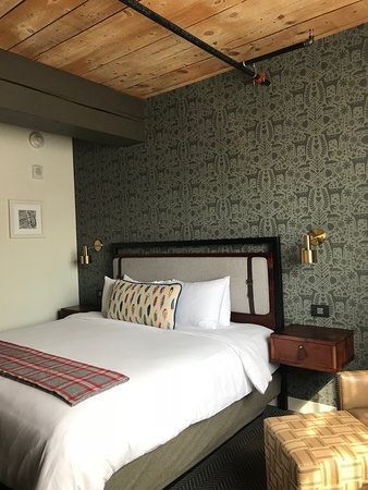 Exposed Timbers Picture Of Hewing Hotel Minneapolis Tripadvisor