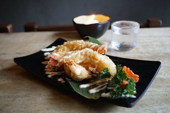 Izakaya NoMad: Ebi mayo and sake