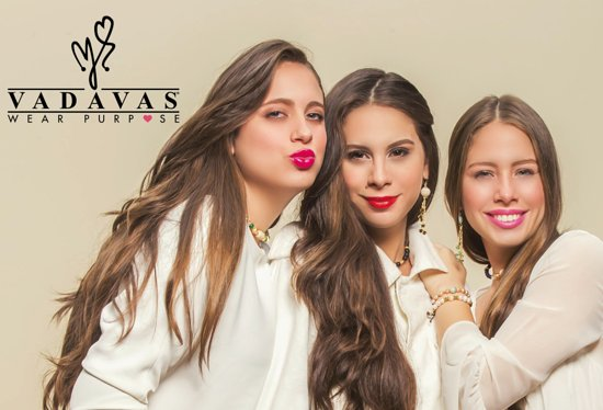 Noord, Aruba: Valentina, Daniela and Valeria, designers and co-owners/founders of Vadavas®