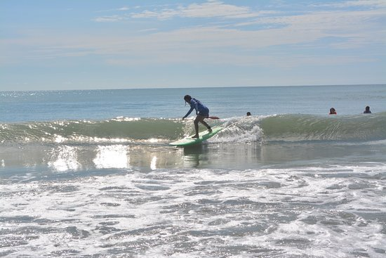 Neilson Surf Shop: Surf Lesson 2018 right behind the shop!