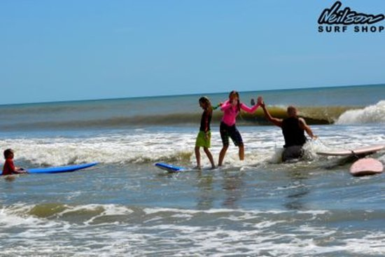 Neilson Surf Shop: Surf camp a few years back!
