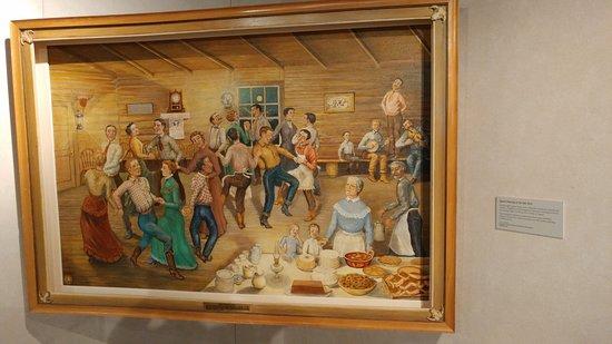 Pembina, Dakota Północna: A temporary art gallery housed works by a North Dakotan artist.