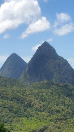 Castries Quarter, St. Lucia: the great twin pitons