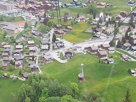 Pfingstegg: Vista da cidade a partir do teleférico