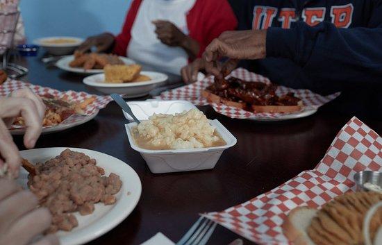 Lovett's Soul Food family style.