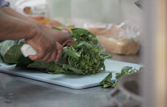Lovett's Soul Food fresh greens.