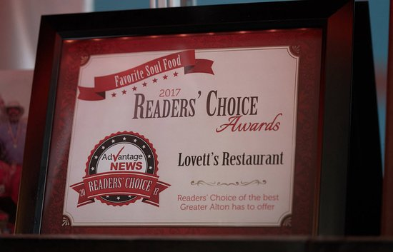 Lovett's Soul Food voted Reader's Choice.