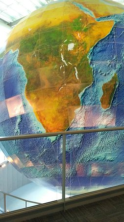 giant globe as seen from space picture of eartha the world s