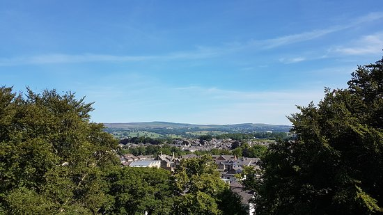 Clitheroe Castle: View over town