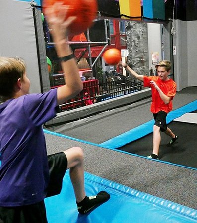 Uptown Jungle Fun Park: Test your aim ability by playing dodgeball on our trampoline park with other kids. - Peoria