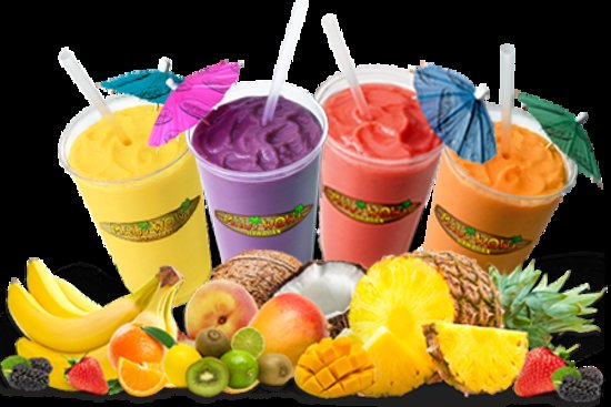 Maui Wowi Hawaiian Coffee & Smoothies: Real fruit, juices & non-fat yogurt