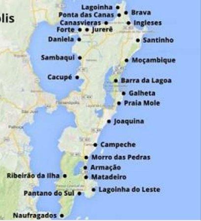 praia mapa mapa de todas as praias de floripa   Foto de Floripa by Bus  praia mapa
