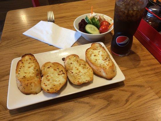 Pizza Hut: Garlic Bread with Mozzarella Cheese £4.99 as at July 2018