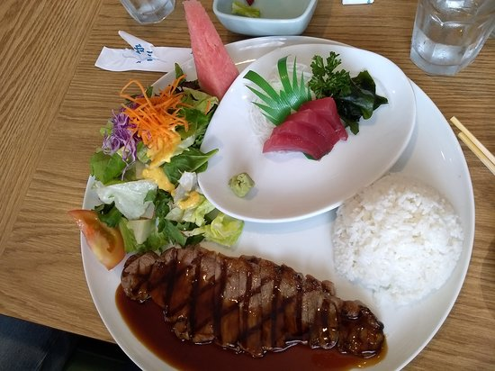 Stanton, Калифорния: Teriyaki steak and sushi