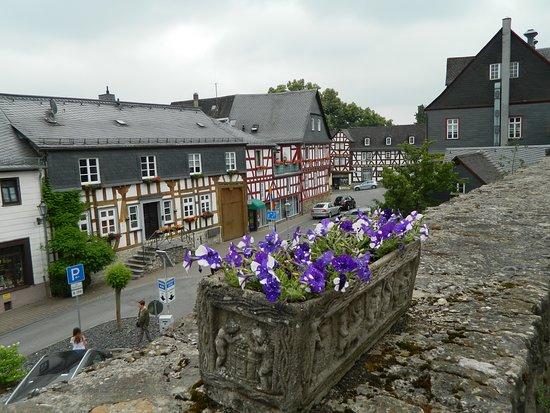Caminando por las afueras del Castillo se puede apreciar lo hermoso del pueblito de Braunfels.