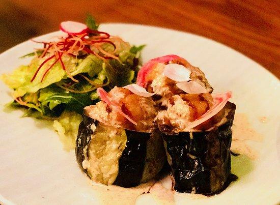 Kushi Japanese Restaurant: Grilled eggplant with mashed yams