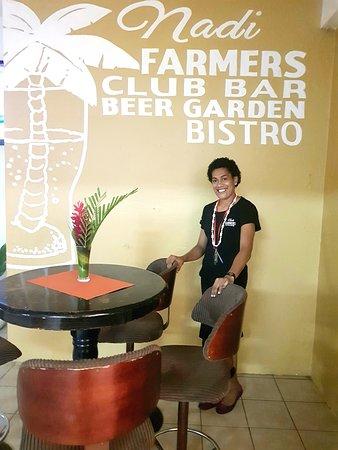 The New Nadi Farmers Club: Welcome to Nadi farmers, Meet Aka, our head waitress