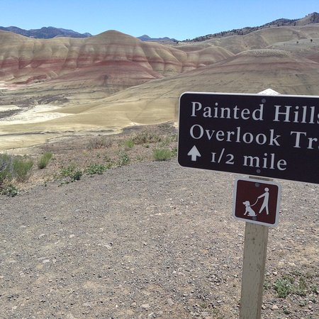 John Day Fossil Beds National Monument: Start of overlook trail