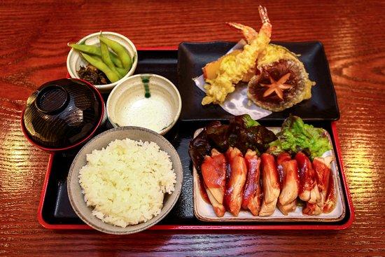 Tempura & Teriyaki Chicken Combination Specian (Lunch)