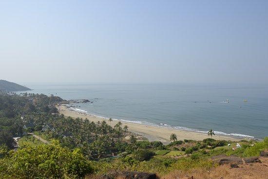 Chapora Fort: Вид на пляж Вагатор