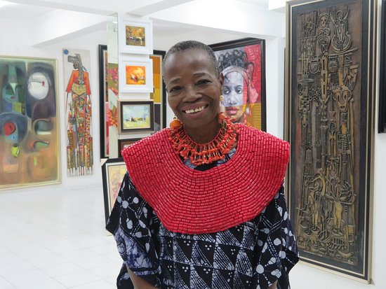 Osogbo, Nigeria: The internationaly known owner of the gallery, great designer and artist