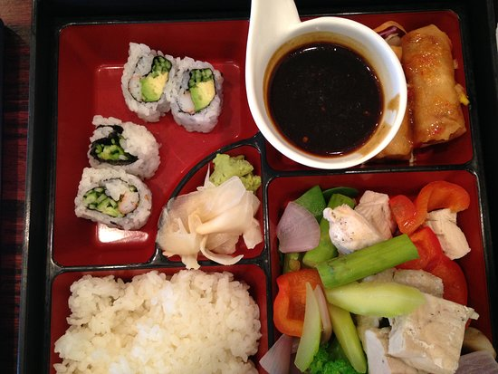 Sapporo Woodbury: Bento box, bamboo steamer chicken