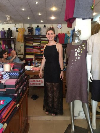 Gia Huy Silk Tailor Shop: Beautyful girl in hot trend dress made by Gia Huy team