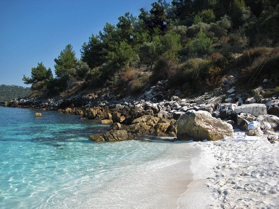 Thasos, Greece: Marble beach