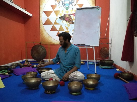 Anup making sound magic - Picture of Sound Healing Nepal
