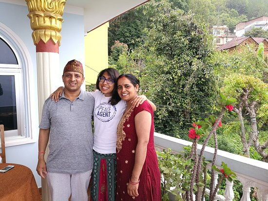 Tansen, Nepal: With my Nepali parents <3