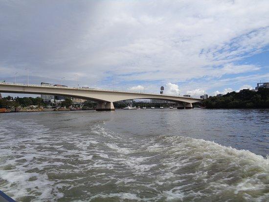 The Brisbane River: Captain Cook Bridge
